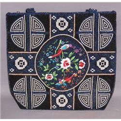 PICTORIAL BEADED PURSE