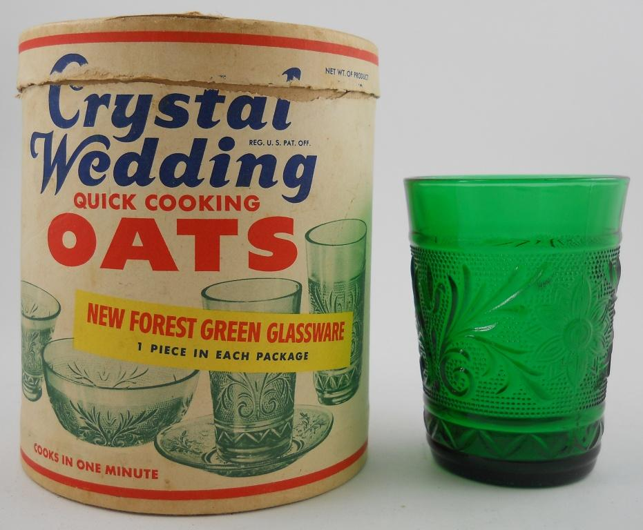 Crystal Wedding Oat Container