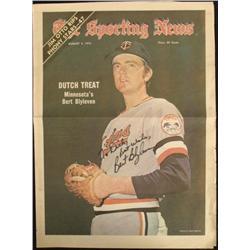 Vintage Bert Blyleven Sporting News Headline Clipping