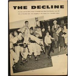 Magazine Article Vintage Gene Bearden Cleveland Indians
