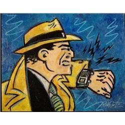 Duerrstein Original Painting Dick Tracy Comic Art