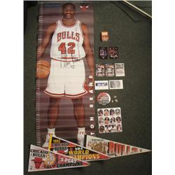 Dealers Lot Chicago Bulls Pennants Pins Poster NBA