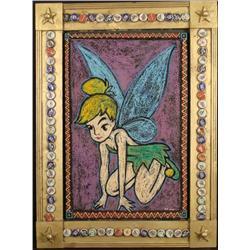 Bob Zeno Tinker Bell Original Painting w/Folk Art Frame