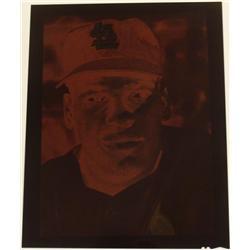 8x10 Professional Negative Bob Gibson Photo Vintage
