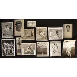 Vintage 1930s-60s 14 Photos Baseball Charles Cominsky