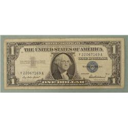 One Dollar Silver Certificate $1 Bill 1957