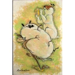 Duerrstein Original Painting Ralph & Sam (Wile E Coyote