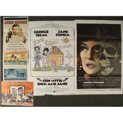 Vintage Movie Posters Lot Comancheros Dead Ringer