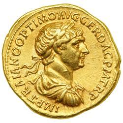 Trajan, AD 98-117. Gold Aureus (7.25 g) minted at Rome, AD