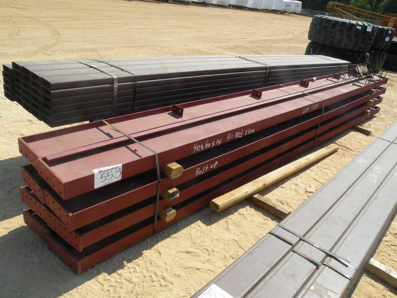 PREFAB METAL BUILDING (ALL RED IRON) 40'X60'X14' (4) 12