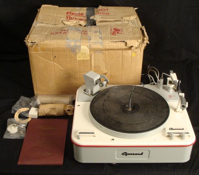 Garrard Auto Turntable Type A Record Player Rare In Box