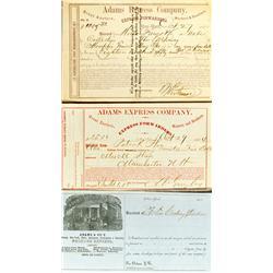 c1860 - Adams Express Company Notes :