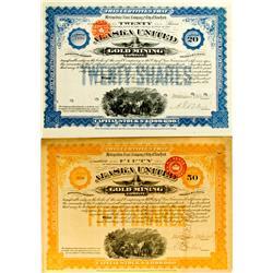 1895 - Alaska United Gold Mining Company Stocks :