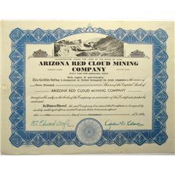 Arizona Red Cloud Mining Company Stock Certificate :