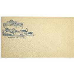 1864 - Political Satire Envelope Cover :