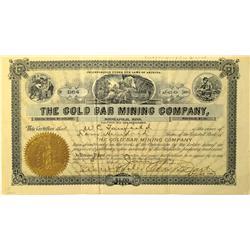 AZ - 1904 - Gold Bar Mining Company Stock Certificate :