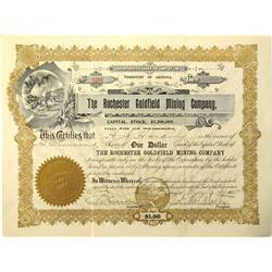 AZ - 1905 - Rochester Goldfield Mining Company Stock Certificate *Territorial* :