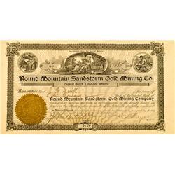 AZ - Round Mountain Sandstorm Gold Mining Co. Stock :