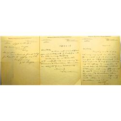 AZ - 1907-1908 - Saddle Mountain Mining Company Letters *Territorial* :