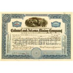 Bisbee,AZ - Cochise County - 1921 - Calumet and Arizona Mining Company Stock Certificate :