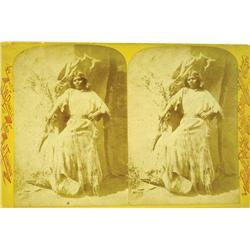 Coconino County,AZ - 1871-1879 - Arizona Indian Woman of Kaibab Plateau Stereoview :