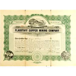 Flagstaff,AZ - Coconino County - 1908 - Flagstaff Copper Mining Company Stock :