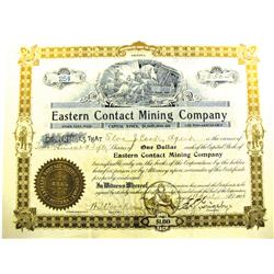 Goldfield,AZ - Esmeralda - 1906 - Eastern Contact Mining Company Stock *Territorial* :