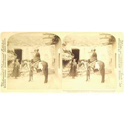 Hopi Mesas,AZ - Navajo County - 1901 - Moki (Hopi) Maidens Stereoview *Territorial* :