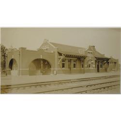 Kingman,AZ - Mohave County - c1920 - Depot of the Santa Fe Photograph :