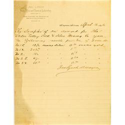 Kingman,AZ - Mohave County - April 19, 1896 - Lynch Assay Office :