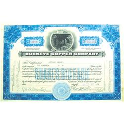 Maricopa County,AZ - June 22, 1927 - Buckeye Copper Company Stock Certificate :