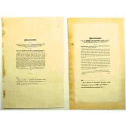 CA - 1866 - Mining and Scientific Press Ads :