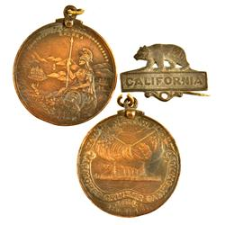 CA - 1904 - Native Sons of the Gold West Medal with Pin :