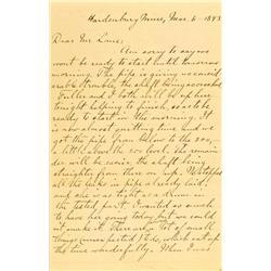 Amador County,CA - March 6, 1893 - Hardenbury Mine Letter :