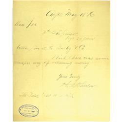 Angels Camp,CA - Calaveras County - May 18, 1886 - Gold Shipment Notice :