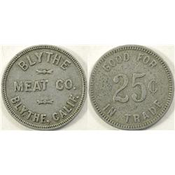 Blythe,CA - Riverside County - Blythe Meat Company Token :