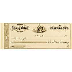 Nevada City,CA - Nevada County - 1860 - Ott, James J.,  Assay Office Receipt :