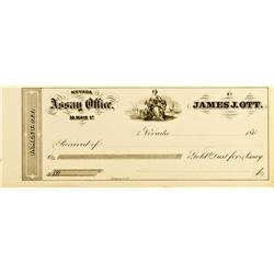 Nevada City,CA - Nevada County - Ott, James J., Assay Office Receipt :