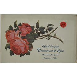 Pasadena,CA - Los Angeles County - 1910 - Tournament of Roses Program :