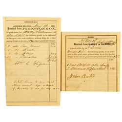 Placer County,CA - 1862-63 - Auburn/Forest Hill Receipts :