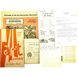 Redlands,CA - San Bernardino County - 1898-1977 - Ephemera Group :