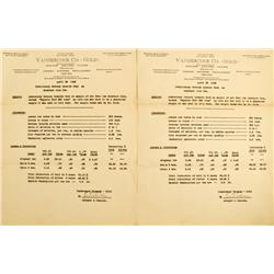 Sacramento,CA - c. 1935 - Vandercook Co. – GOLD Ore Results :