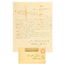 Sacramento,CA - Wells Fargo & Co Express Cover and Letter :