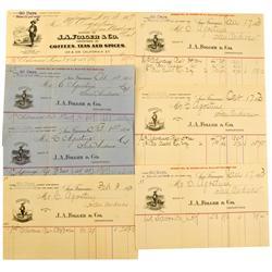 San Andreas,CA - Calaveras County - 1889-1894 - Folger, JA  & Co. Billheads :
