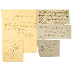 San Francisco,CA - 1852 - Adam's & Co Assorted Documents :