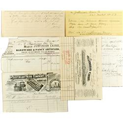 San Francisco,CA - c. 1885-1901 - Justinian Caire Company Billheads (lot of six) :