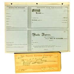 San Francisco,CA - Pacific Express Co. Bills of Exchange (2) :