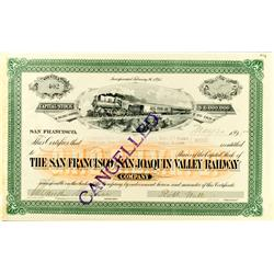 San Francisco,CA - 1895 - San Francisco and San Joaquin Valley Railway Stock :