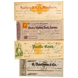 San Francisco,CA - 1870-1877 - San Francisco Banking House Checks :
