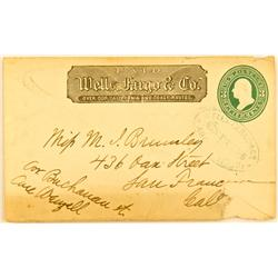 San Francisco,CA - 1875 - Wells Fargo & Co Express Cover :